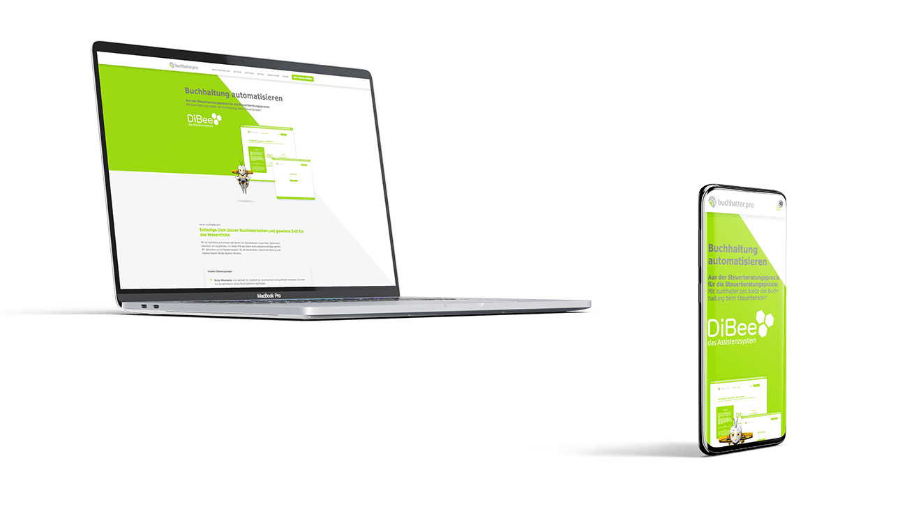 Webseite responsive Screendesign Software-Anbieter Buchhaltung