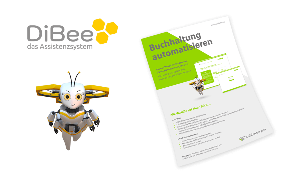 Logodesign Biene Figur Flyer Layout Software 3D-Figur