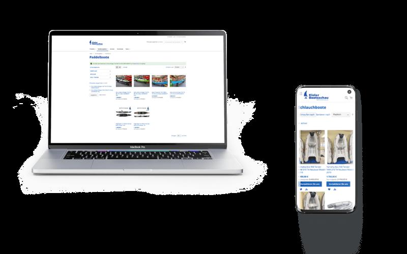 Webseite Screendesign responsive Kiel Mockup