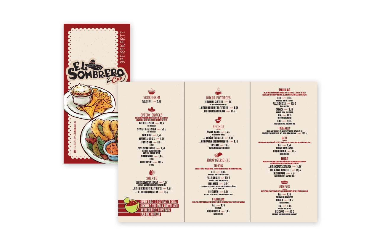 mexikanisch Restaurant Speisekarte Kiel Gestaltung