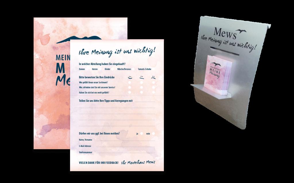 Modehaus Mews Feedback Kundenmeinung Meckerbox Gestaltung