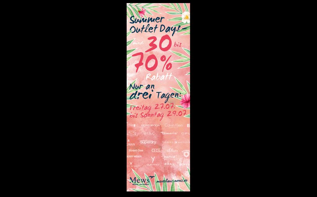 Modehaus Mews Onlinebanner Anzeigenbanner Gestaltung Layout Sommer Sale
