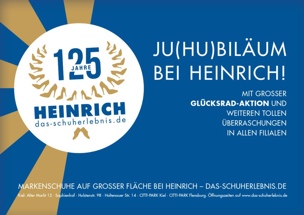 Anzeige Jubiläum Schuhgeschäft Gestaltung Kampagne