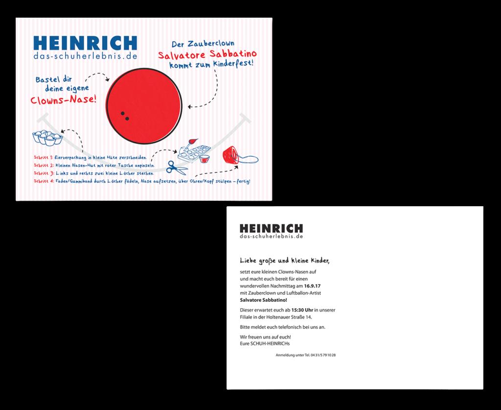 Kinderfest Einladungskarte Mailing Gestaltung Schuhgeschäft