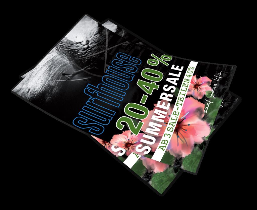 Plakat Summersale A2 Gestaltung Layout Mockup