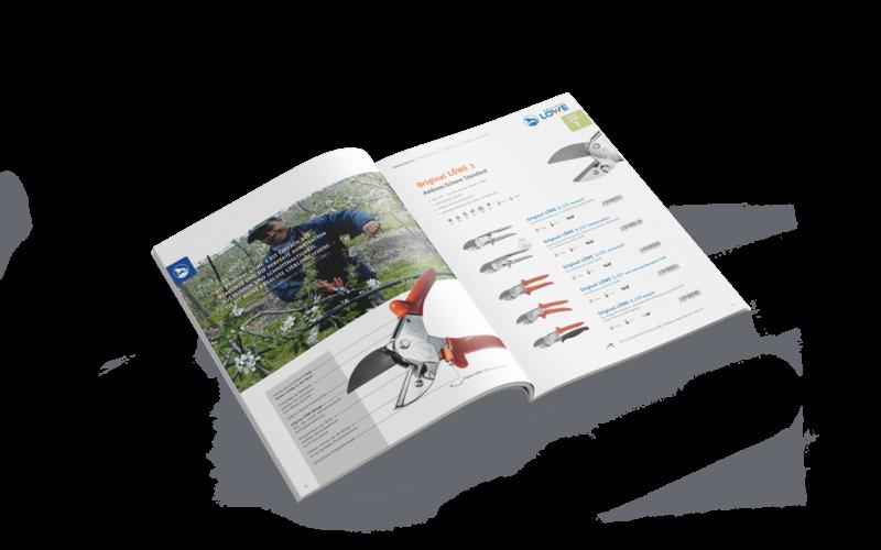 Original LÖWE Katalog Gestaltung Corporate Design Layout Mockup