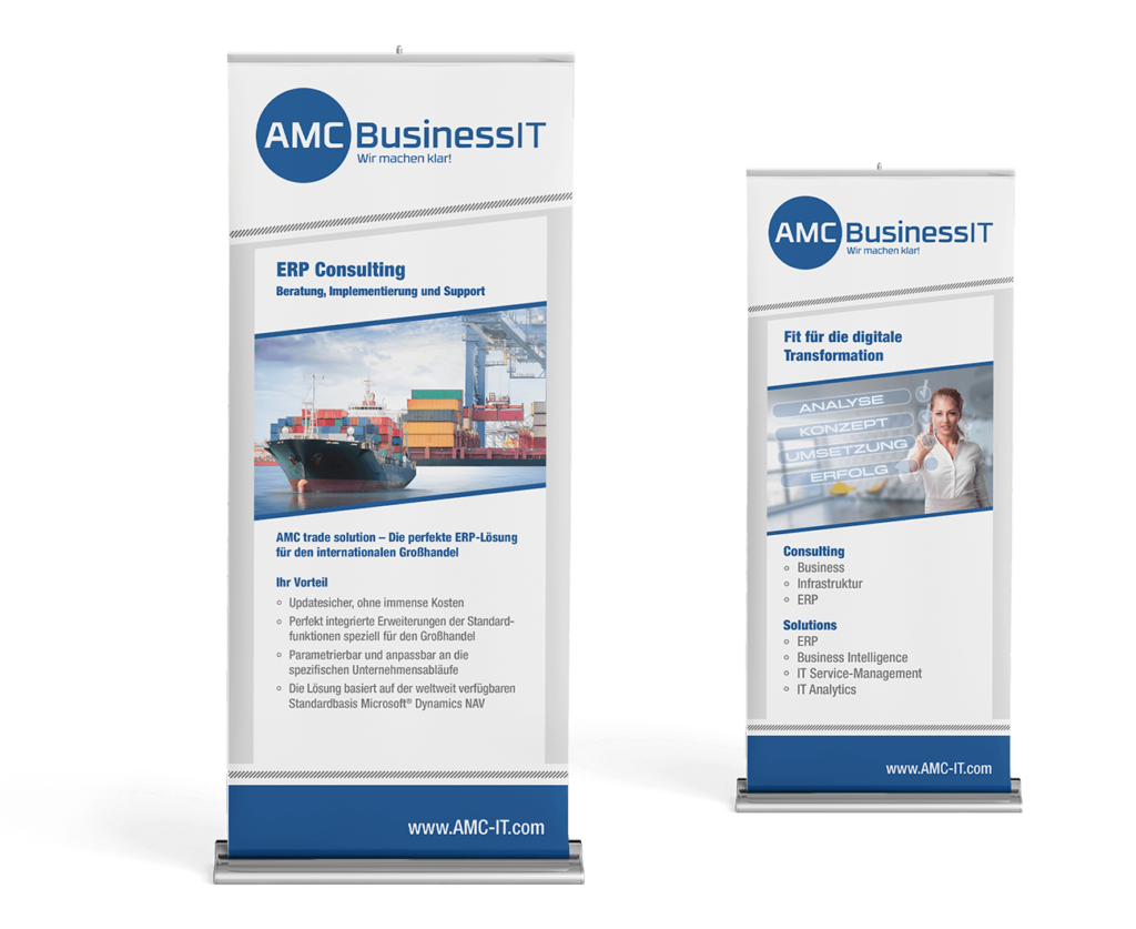 Rollup Banner IT-Firma Layout Messestand