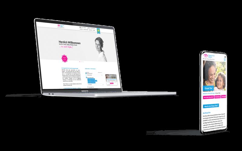 Augenarzt Webseite Screendesign Mockup Responsive