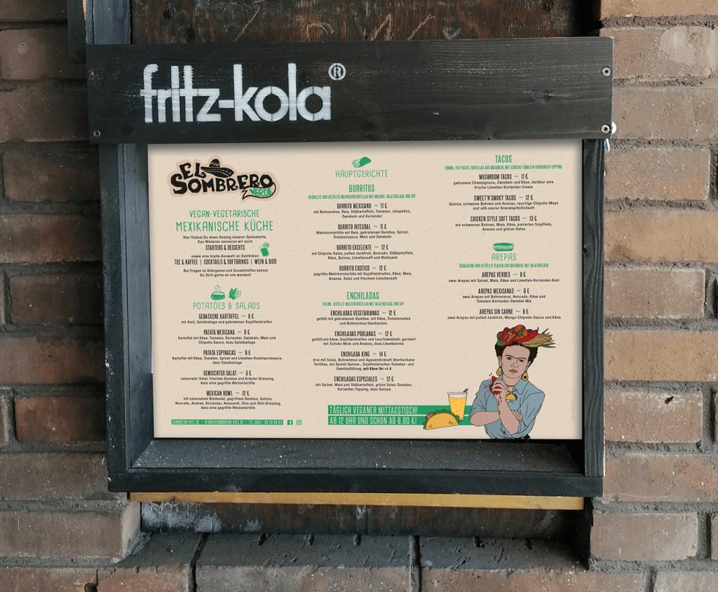mexikanisch Restaurant Aushang Speisekarte Kiel Layout Gestaltung