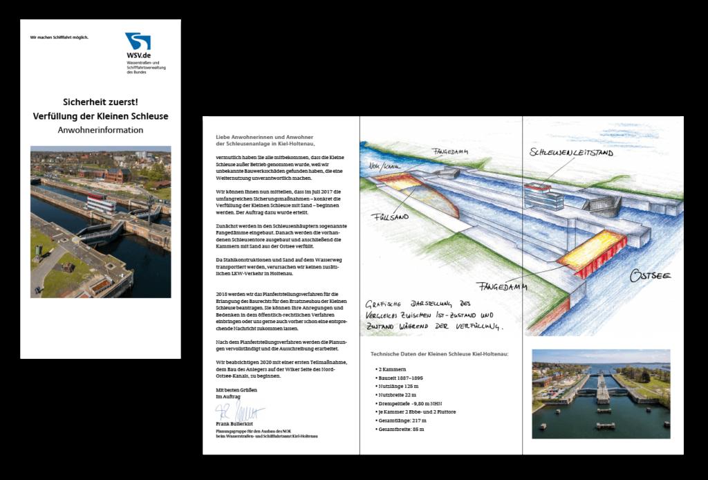 Flyer Wickelfalz DINlang Gestaltung Layout