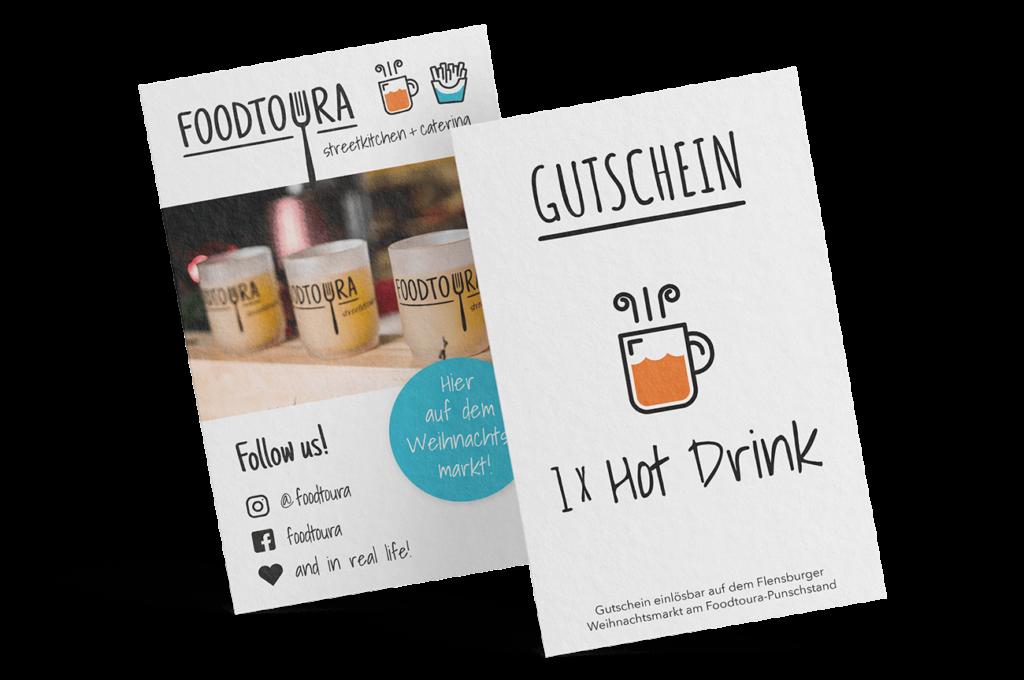 Gutschein Gestaltung Mockup Foodtruck Glühwein Mockup
