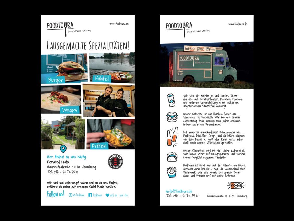 Flyer Gestaltung Layout Foodtruck Flensburg