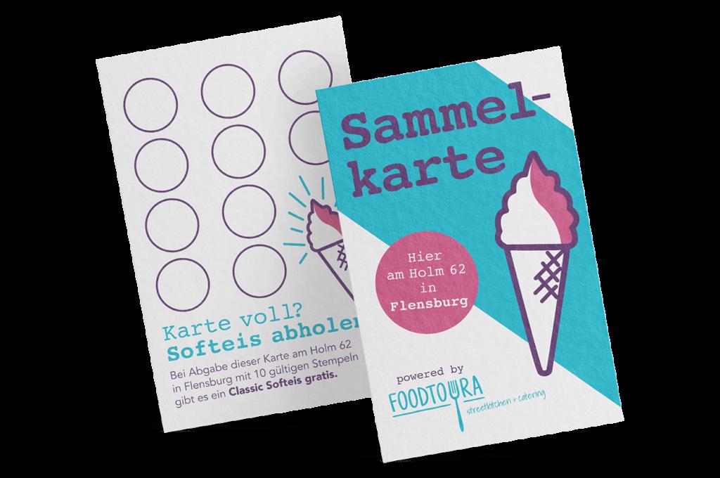 Sammelkarte Stempelkarte Softeis Stand Flensburg Gestaltung Mockup