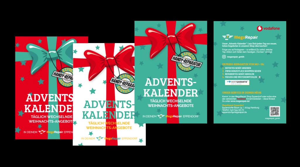 Flyer Geschenk Weihnachtsaktion Gestaltung Layout DIN A5