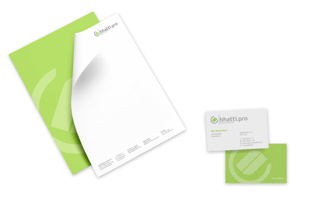 Briefpapier Visitenkarte Corporate Design Geschäftsausstattung Layout Mockup