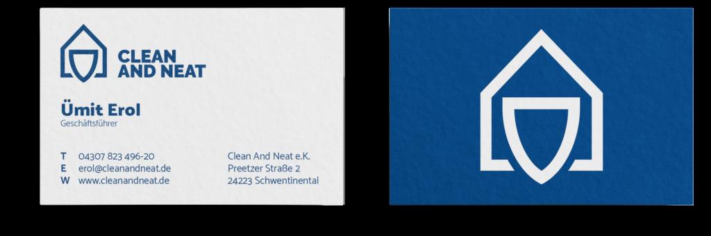 Visitenkarten Design Blau